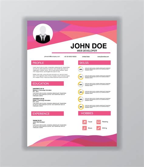 templates de curriculo para download curriculum vitae template vector free download