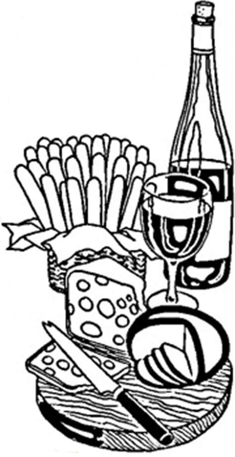 french wine  cheese coloring page coloring sky