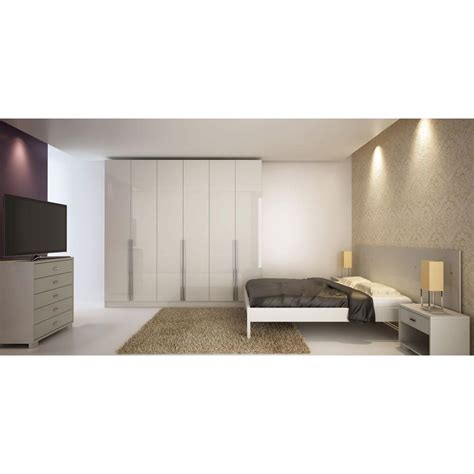Bedroom Sets With Armoires by Manhattan Comfort Eldridge White High Gloss Armoire 34184