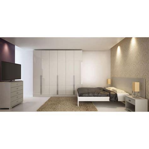 Manhattan Comfort Eldridge White High Gloss Armoire 34184