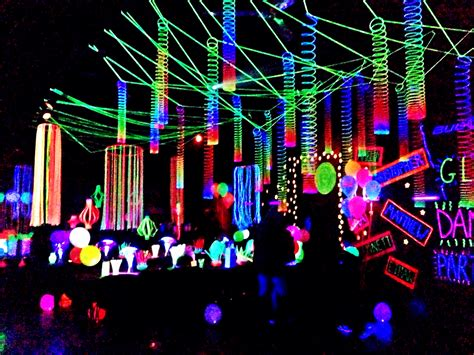 black light glow party glow party decorations pinteres