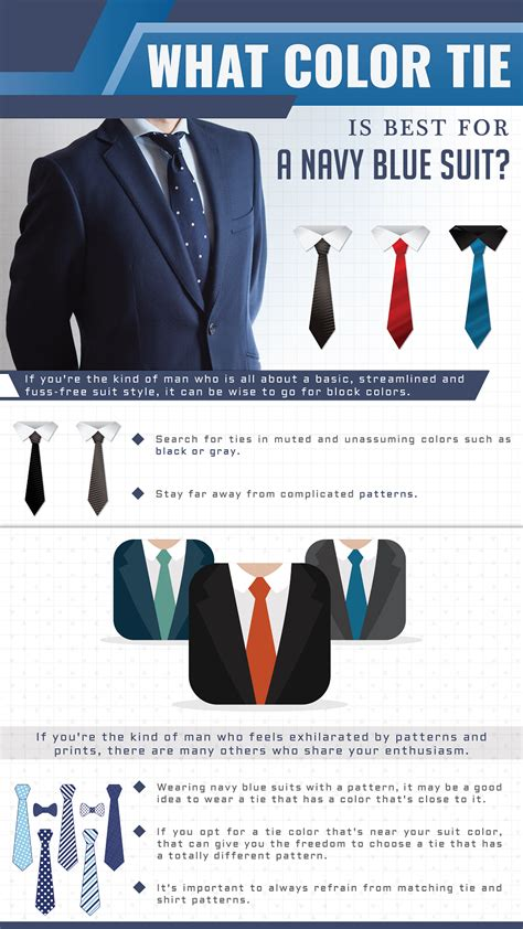 what color suit for what color tie is best for a navy blue suit