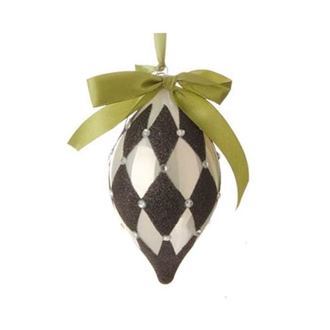 black and white christmas ornaments new raz 4 quot black and white glittered harlequin diamond glass christmas ornament ebay
