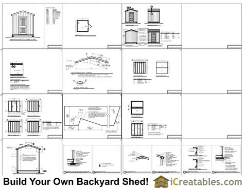 8x8 backyard storage shed plans