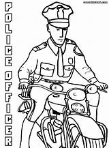Police Coloring Officer Pages Officers Drawing Policeofficer Getdrawings sketch template