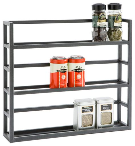 Container Store Spice Rack by Iron Spice Rack Traditional Spice Jars And Spice Racks