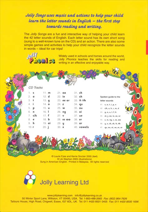 jolly songs book  cd  print letters