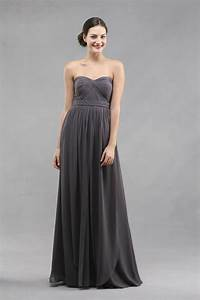 jenny yoo aidan dress in charcoal once wed With charcoal dresses for weddings