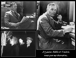 Edwin Hubble and Einstein - Pics about space