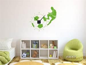 Fussball Deko Für Kinderzimmer : wandtattoo uhr ~ Sanjose-hotels-ca.com Haus und Dekorationen