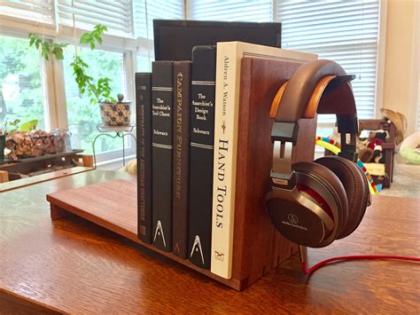 Desktop Bookcase by Made A Simple Desktop Bookshelf And Headphone Stand