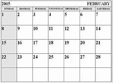 Month Of February Calendar 2015 wwwpixsharkcom