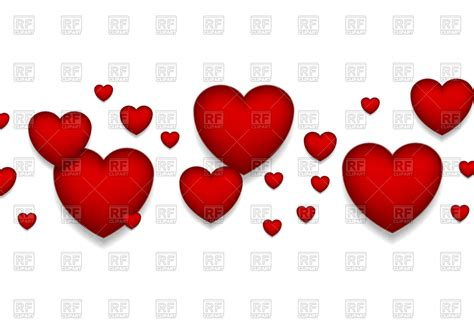 st valentines day red hearts background vector stock
