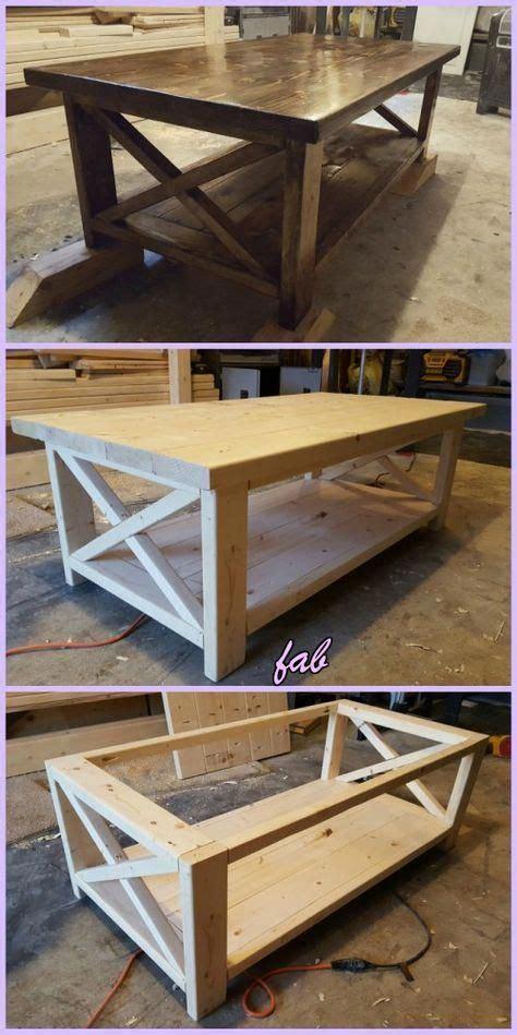 diy rustic  coffee table tutorial  plan