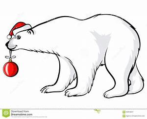 Cartoon Christmas Polar Bear Stock Vector - Illustration ...