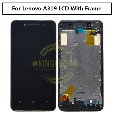 tested original lcd lenovo a319 display screen with frame