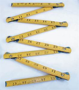 Vintage Tools - STANLEY FOUR SQUARE 4 FOOT ZIG-ZAG RULE