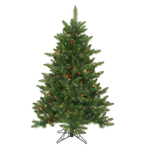 4 foot christmas tree 4 5 foot camdon fir tree multi colored lights a860947