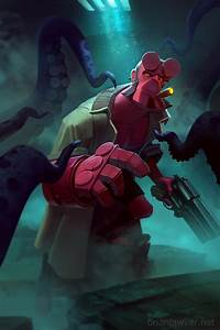 HellBoy Tentacle Time! by lawvalamp on DeviantArt