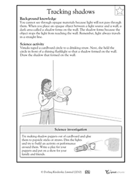 12 best images of shadow and light worksheets 4th grade