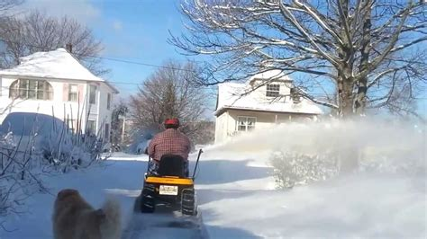 cub cadet lawn tractor  snow blower sun  jan  part