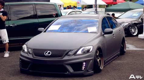 stanced lexus coupe stanced lexus and toyotas gathered at japanese car show