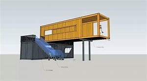 2unit 40ft shipping container coffee shop Pop-Up