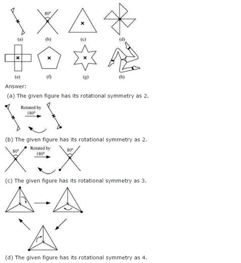 ncert solutions  class  maths chapter  symmetry