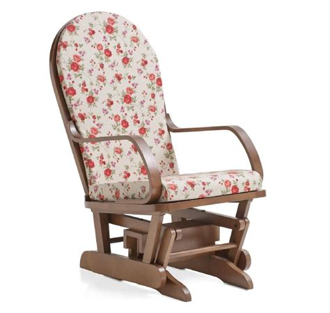 poltrone cuscino sedia dondolo basculante in legno massiccio completa di