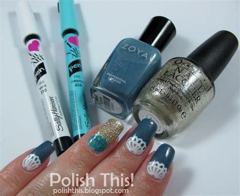 Lace Nail Art With Sally Hansen I Heart Nail Art Pens