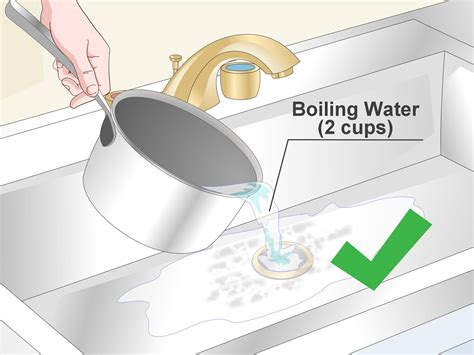 ways  clean  drain pipe wikihow