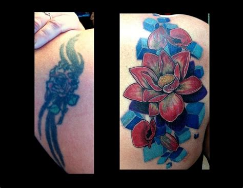 flower coverup tattoo  haley adams tattoos