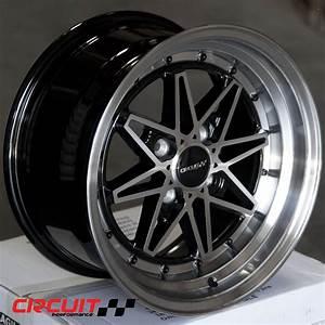 Cp24 15x8 Gloss Black  Machined 4x100 Et25 Wheel
