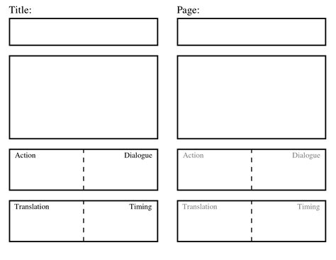 storyboard template storyboard