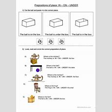 Prepositions Of Place In On Under Worksheet  Free Esl Printable Worksheets Made By Teachers