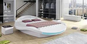lit led design rocher 140 cm avec sommier relevable With chambre design avec biotex matelas