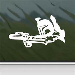 amazoncom star wars white sticker decal boba fett With kitchen colors with white cabinets with boba fett sticker
