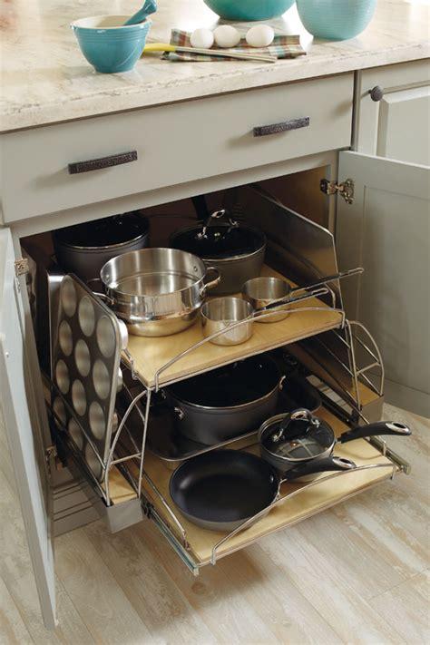 base pots  pans pullout diamond cabinetry