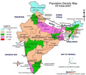 India Population Density Map