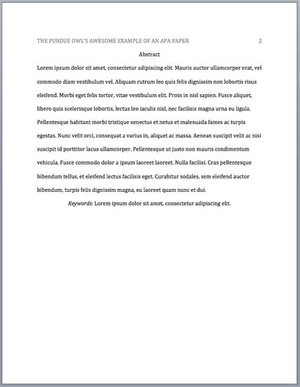 abstract apa format exle paper what is an abstract page in apa format