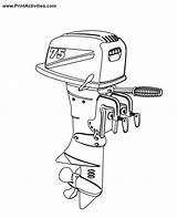 Boat Motor Coloring Outboard Pages Engine Clipart Motors Colouring Boats Clip Moter Library Popular Clipground Coloringhome sketch template