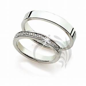 polish flat matching wedding bands 015 ctw round diamond With couples wedding rings