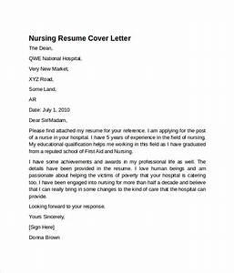 sample nursing cover letter template 8 download free With nursing cover letter samples free