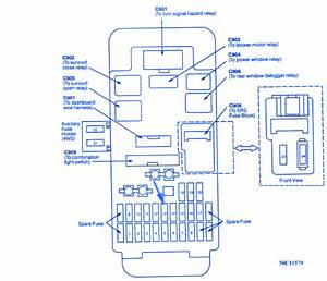 Honda Prelude 1995 Interior Fuse Box  Block Circuit Breaker Diagram