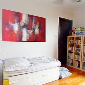 Decoration Murale Tableau : tableau rouge deco murale horizontal 160x75 cm ~ Teatrodelosmanantiales.com Idées de Décoration