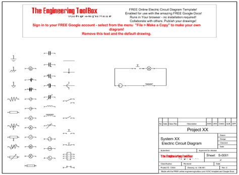 Electrical Diagram Template by Electric Circuit Diagram Template