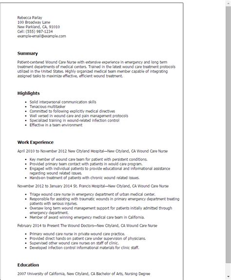 pediatrician resume career objective and work experience