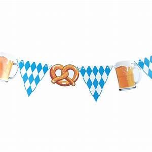 Oktoberfest Blau Weiß Muster Brezel : wimpelkette oktoberfest brezel bier wei blau ~ Watch28wear.com Haus und Dekorationen