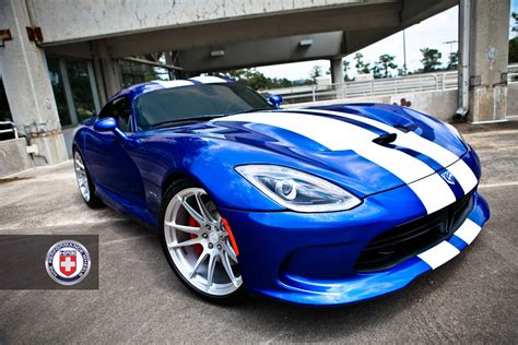 Dodge Viper Blue by Blue 2013 Srt Viper Rolling On Hre Wheels Gtspirit
