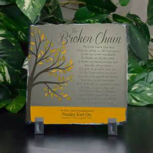 communion jewelry box the broken chain small memorial plaque